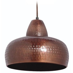 Kenroy Home Lighting Bazaar Antique Copper Pendant Light