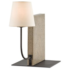Currey and Company Oldknow Polished Concrete/aged Steel Accent Lamp