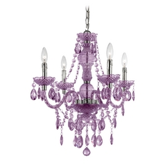 AF Lighting Naples 4-Light Mini Chandelier in Chrome