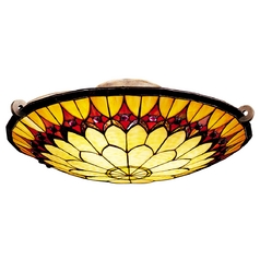 Kichler Lighting Tiffany Semi-Flush Ceiling Light Fixture 69017