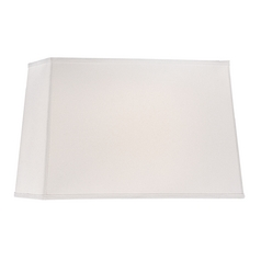Large Rectangle Lamp Shade in White Linen Fabric with Spider Assembly
