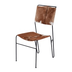 Goatskin Tuft Side Chair