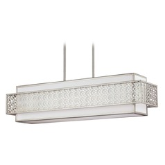 Feiss Lighting Kenney Sunrise Silver Island Light with Rectangle Shade