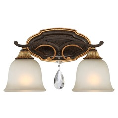 Chateau Nobles Raven Bronze with Sunburst Gold Bathroom Light