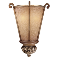 Sconce with Beige / Cream Glass in Florence Patina Finish