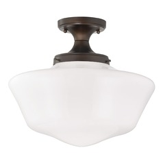 16-Inch Wide Schoolhouse Ceiling Light in Bronze Finish