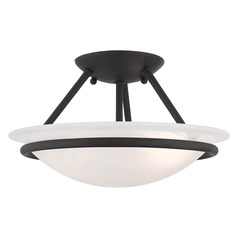 Livex Lighting Newburgh Black Semi-Flushmount Light