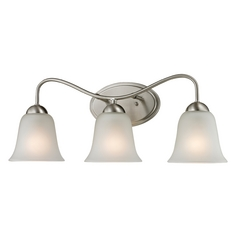 Cornerstone Lighting Conway Brushed Nickel Bathroom Light