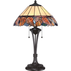 Quoizel Lighting Tiffany Western Bronze Table Lamp