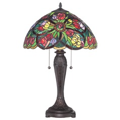 Quoizel Tiffany Antique Bronze Table Lamp