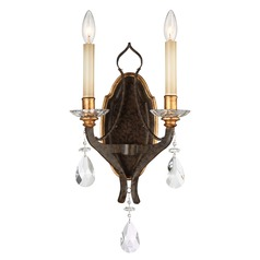 Chateau Nobles Raven Bronze with Sunburst Gold Sconce