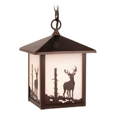 Bryce Burnished Bronze Outdoor Hanging Light by Vaxcel Lighting