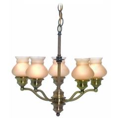 Lite Source Lighting Susie Antique Brass Chandelier