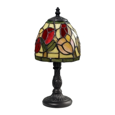 Table Lamp with Art Glass