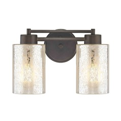 Mercury Glass Bathroom Light Bronze