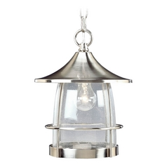 Progress Outdoor Hanging Light with Clear Glass