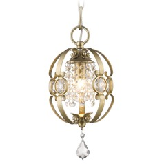 Golden Lighting Ella White Gold Mini-Pendant Light