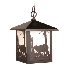 Bozeman Burnished Bronze Outdoor Hanging Light by Vaxcel Lighting