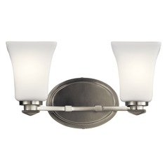Traditional Bathroom Light Brushed Nickel Clare by Kichler Lighting