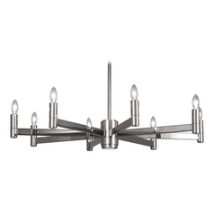 Robert Abbey Delany 8-Light Chandelier in Polished Nickel
