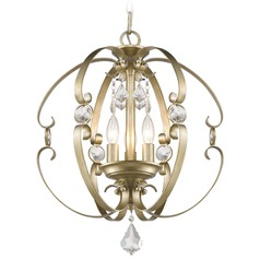 Golden Lighting Ella White Gold Pendant Light