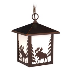 Yellowstone Burnished Bronze Outdoor Hanging Light by Vaxcel Lighting