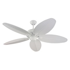 Outdoor Ceiling Fan Without Light in White Finish