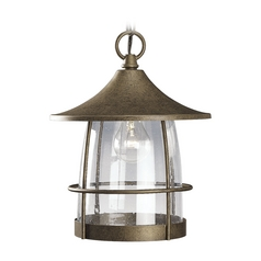 Progress Outdoor Hanging Light with Clear Glass in Chestnut Finish