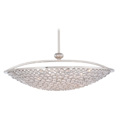 Crystal Pendant Light in Polished Nickel Finish - 10-Lights