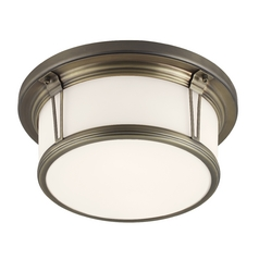 Feiss Lighting Woodward Satin Bronze Flushmount Light