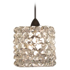 WAC Lighting Mini Haven Dark Bronze Mini-Pendant Light with Rectangle Shade