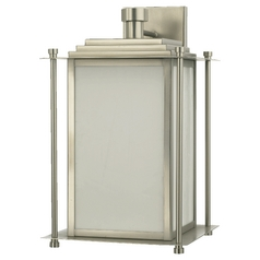 Quorum Lighting Satin Nickel Outdoor Wall Light