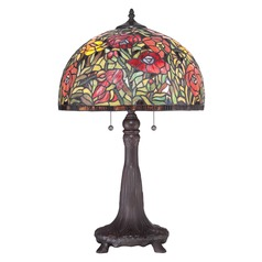 Quoizel Lighting Tiffany Antique Bronze Table Lamp