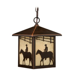 Trail Burnished Bronze Outdoor Hanging Light by Vaxcel Lighting