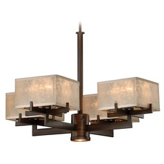 Twirl Venetian Bronze Chandelier by Vaxcel Lighting