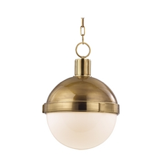 Mid-Century Modern Pendant Light Brass Lambert by Hudson Valley Lighting