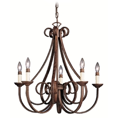 Kichler Lighting Kichler Chandelier in Tannery Bronze Finish 2021TZ