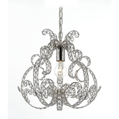 AF Lighting Splendor 1-Light Mini Chandelier in Chrome