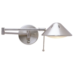 Design Classics Lighting Swing-Arm Wall Lamp JW-100 SAT NICKEL