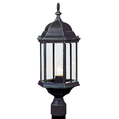 Craftmade Lighting Z695-05 Outdoor Post Light with Clear Glass
