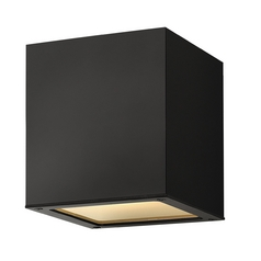Modern Close To Ceiling Light with White Glass in Satin Black Finish