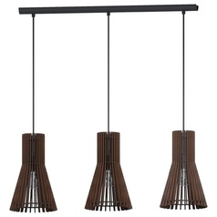 Eglo Atenza Matte Nickel Multi-Light Pendant with Bell Shade
