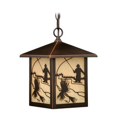Mayfly Burnished Bronze Outdoor Hanging Light by Vaxcel Lighting