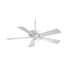 52 Inch Ceiling Fan Without Light In White Finish