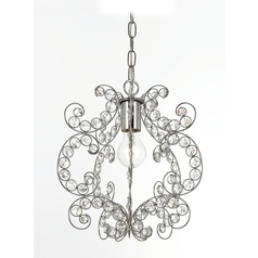AF Lighting Rapture 1-Light Mini Chandelier in Chrome