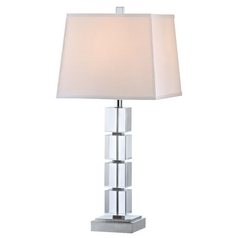 Ashford Classics Lighting Symphony Crystal Narrow Cube Table Lamp with Square Shade 2226