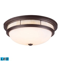 Elk Lighting Tiffany Flushes Oiled Bronze LED Flushmount Light