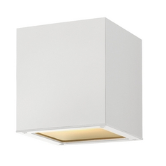 Modern Close To Ceiling Light with White Glass in Satin White Finish