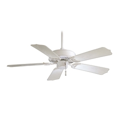 42-Inch Ceiling Fan Without Light in White Finish