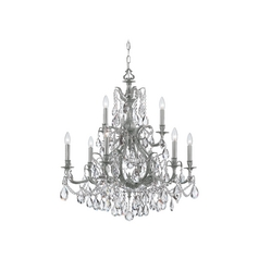 Crystal Chandelier in Pewter Finish